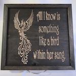 100% Handmade Hardwood Grateful Dead Bird Song Lyrics Framed Wall Art