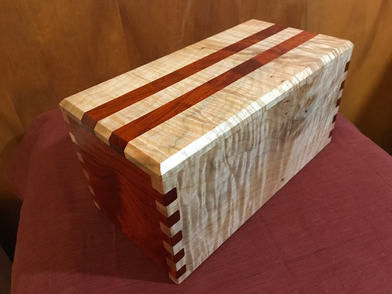 Hand-Crafted Museum Quality Solid Hardwood Chest / Curly Maple image 0
