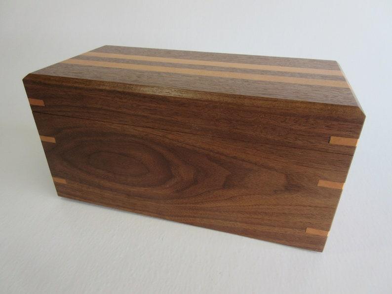 Handmade Solid Hardwood Black Walnut and Cherry False Bottom image 0