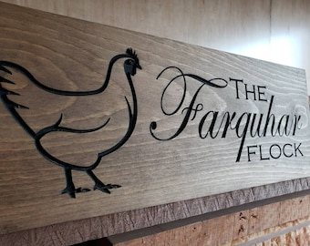 Chicken Hen Farm Country Any Name Personalized Custom Coop Sign Wall Art Décor Made in West Virginia, USA