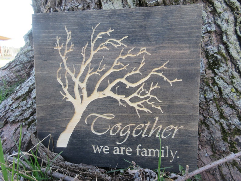 Together We Are Family with Tree Wall Art image 0