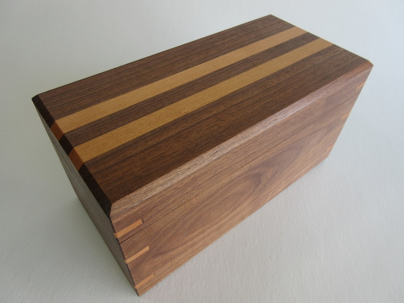 Handmade Solid Hardwood Black Walnut and Cherry False Bottom image 0