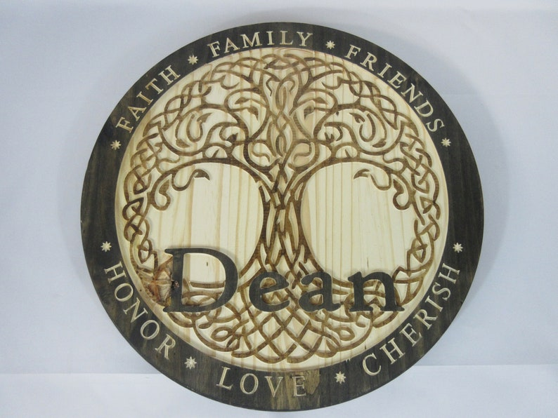 Celtic Tree of Life Personalized Custom Family Name Wall Art image 0