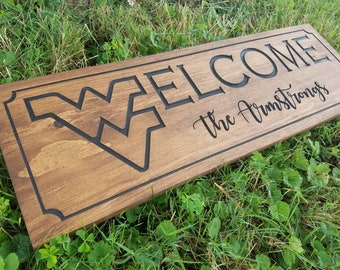 West Virginia WV Welcome Personalized Custom Wall Sign