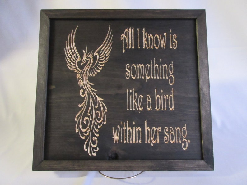 100% Handmade Hardwood Grateful Dead Bird Song Lyrics Framed image 0