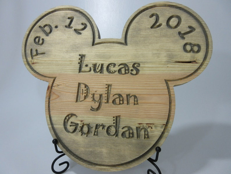 Disney Mickey Mouse Inspired Baby Child Children's Name image 0