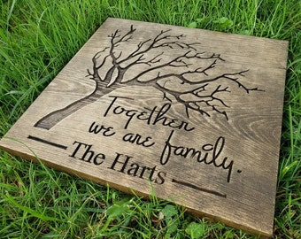 Handmade Hardwood Custom Family Tree Wall Art