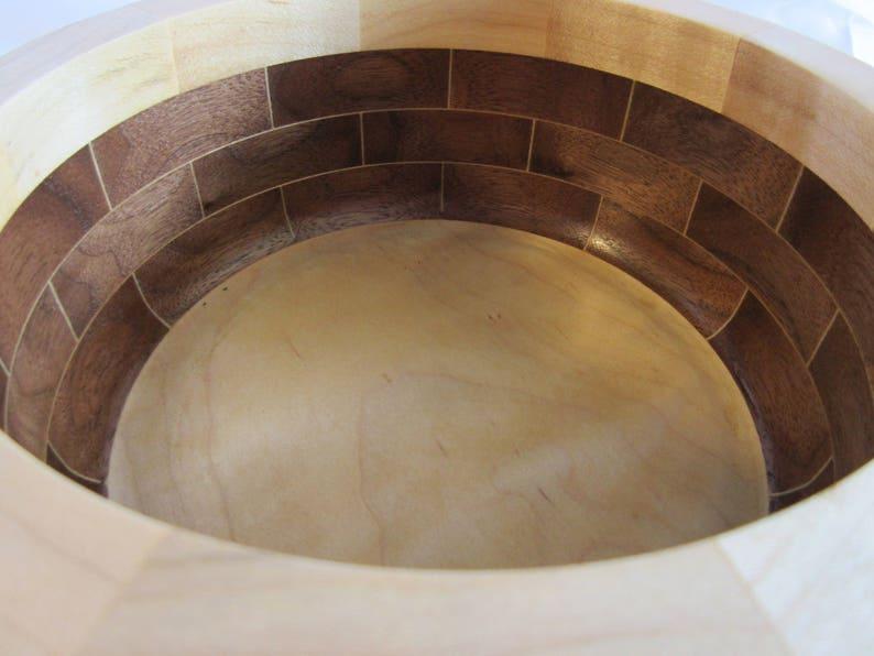 Hand-Turned Handmade American Walnut and Curly Maple Segmented image 0