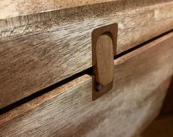 All Wood Inlaid Latch