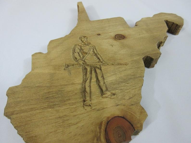 Custom Personalized Handmade Hardwood West Virginia WV WVU image 0