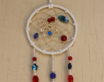 Red, White, and Blue Dream Catcher/4th of July/Dreamcatcher/haute couture/couture/army/navy/marines/air force/usmc/usn/usa/usaf/reserves