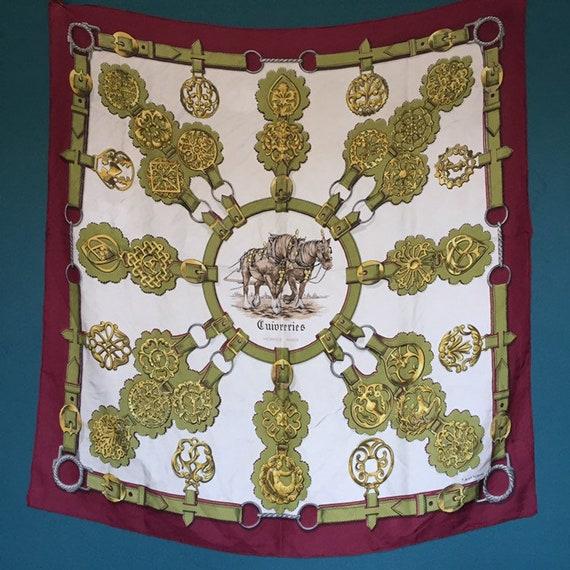 Hermès vintage silk scarf. Vintage Hermes.