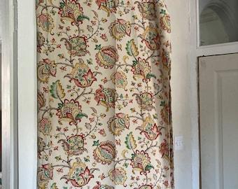 Vintage curtains. Vintage material. Vintage Fabric. Pair of curtains.