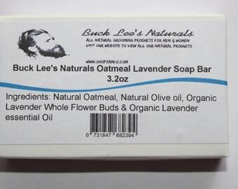 Buck Lee's Naturals Oatmeal Lavender Bar Soap 3.2oz
