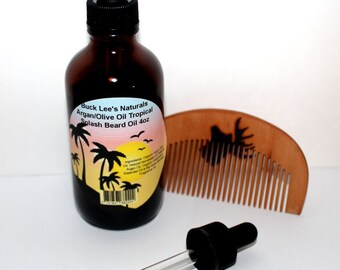 Buck Lee's Naturals Tropical Splash With Argan & Olive Oil Beard Oil 4oz