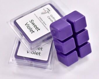 Sweet Violet Scented Wax Melt