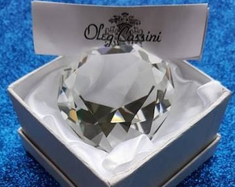 Oleg Cassini Crystal Heart Paperweight