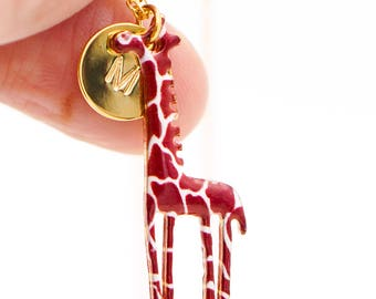 Giraffe Necklace Giraffe Charm Necklace Giraffe Pendant Animal Jewelry Animal Necklace Safari Necklace Giraffe Jewelry Giraffe Pendant