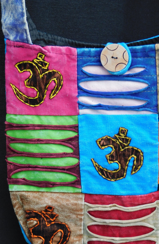 Handmade Hippy Boho Ethnic Om Sling Bag