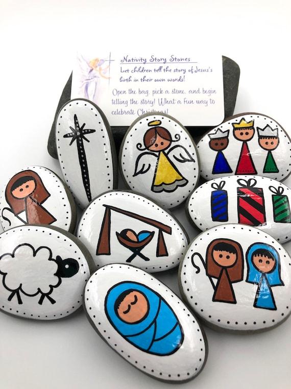 Christmas story stones
