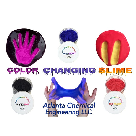 Temperature Activated Color Changing Thermochromic Powder Pigment Blue to COLORL