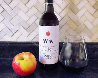 W is for Wine - Wine Label