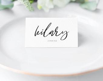 Printable Place Card Template DIY Cards Escort Editable PDF Wedding Tent Joy