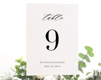 diy table numbers etsy