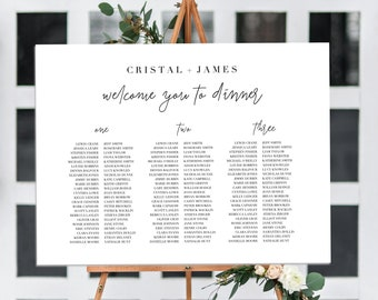Editable Wedding Seating Chart Printable Template Templett Instant Download Sign Guest Find Your Seat