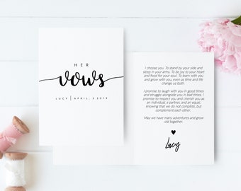 Vow Template Etsy