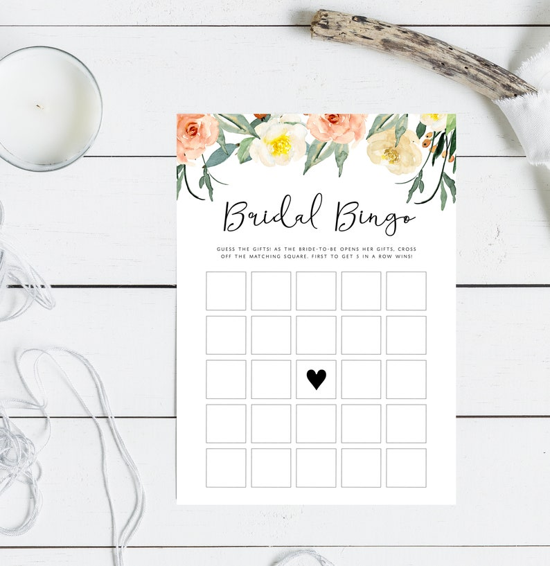 picture regarding Printable Bridal Bingo known as Bridal Bingo Sport Printable, Bridal Bingo Editable Template, Templett Fast Obtain, Do it yourself, Bridal Shower Recreation, Personalized Match, Floral