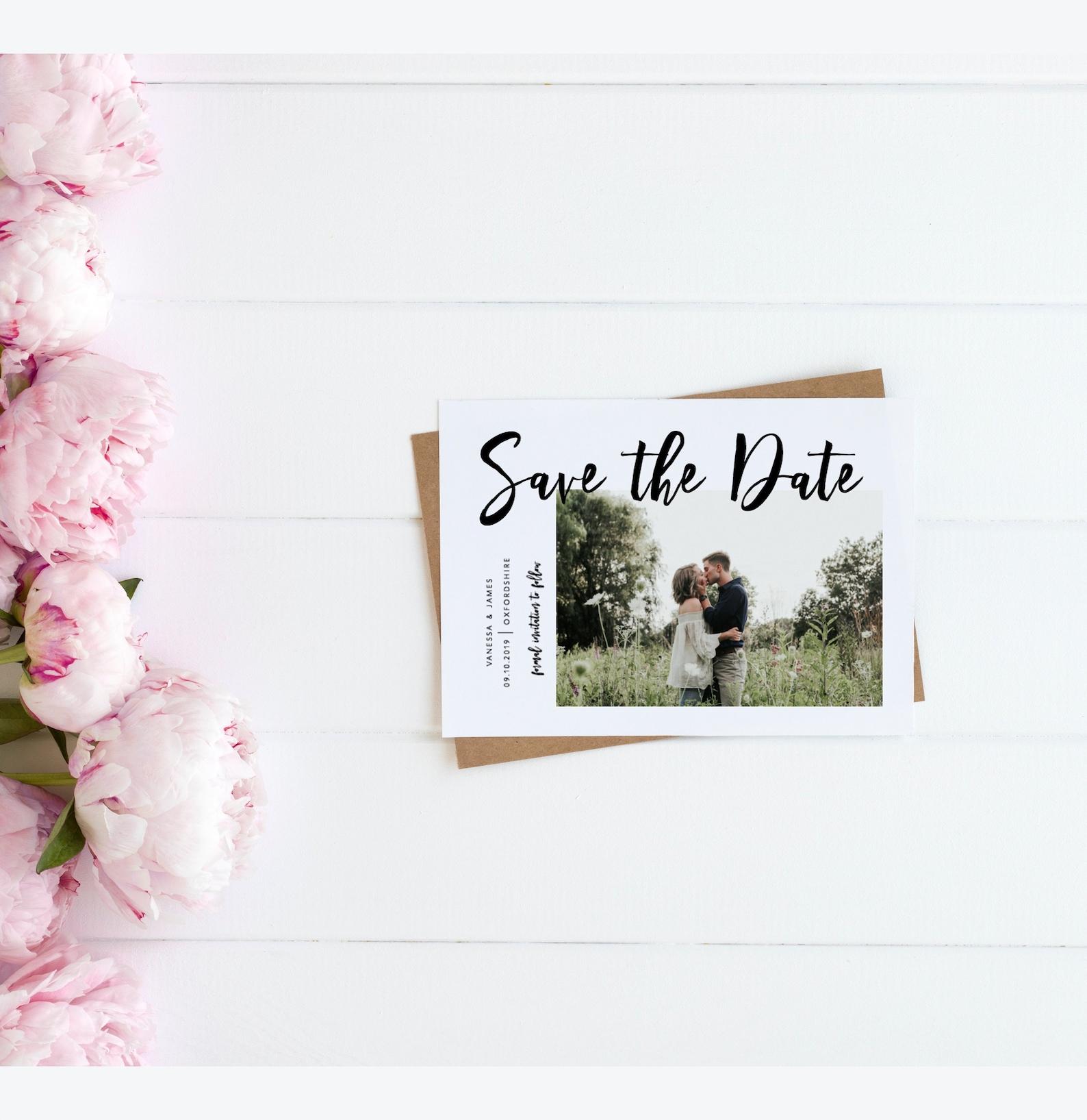 Save the Date Template Hochzeit