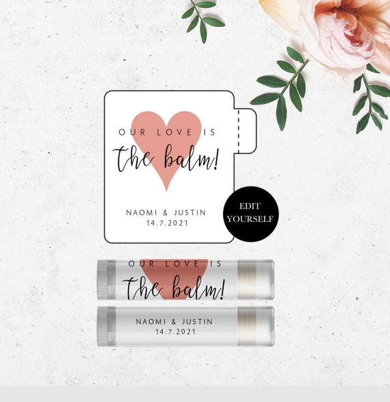 It is a graphic of Printable Lip Balm Label Template for artwork