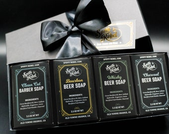 Beer Soap Gift Set Box | Long Distance Relationship Gift Boyfriend | Personalized Gift Brother Dad from Daughter | Secret Santa Coworker