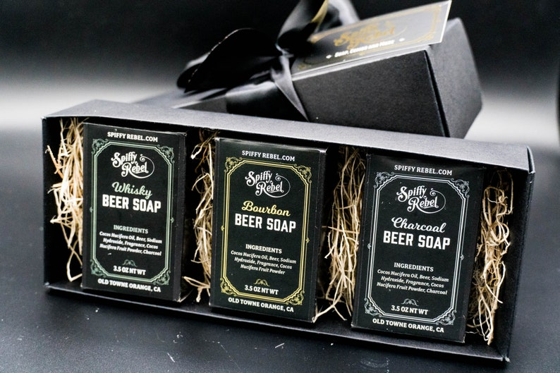 Beer Soap Flight Gift Box  Care Package for Men College image 0