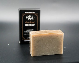 Oatmeal Stout Beer Soap | Funny Christmas Stocking Stuffer | Thank You Gifts for Coworkers | Eco Friendly Products for Men | Men Self Care