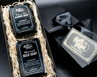 Beer Soap Box Gift Set | Small Funny Unique Thank You Gift Under 20 Dollars | Small Spa Gift Set for Guys | Small Birthday Quarantine Gift