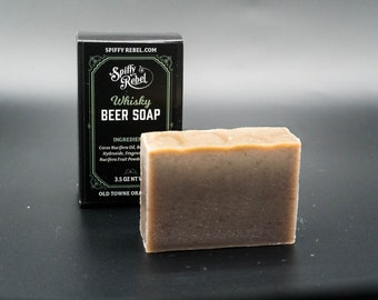 Whisky Beer Soap | Pabst Blue Ribbon Exfoliating Soap | Gentleman Jack Daniels Soap | Scotch Whiskey Soap | Jameson Whisky Beer Soap Gift