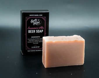 Summer Ale Beer Soap | Funny Christmas Stocking Stuffer White Claw | Thank You Gifts Women | Eco Friendly Products for Her | Gifts Under 10