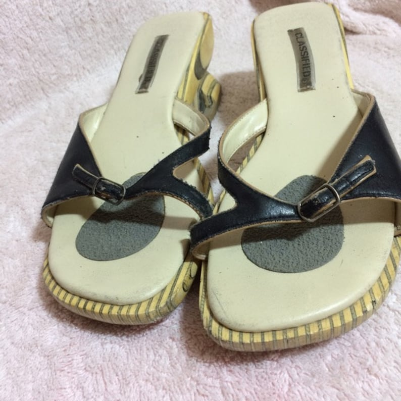 Heels; With Wood From Inch Shape Style Made Likely Sandals Laminated Asia 2 Straps And Unusual Sole Leather oWrdCBxe