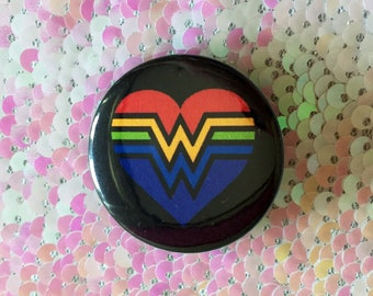 Wonder Woman Gay Pride Pin