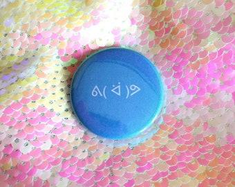 Happy Go Lucky Emoticon Pin