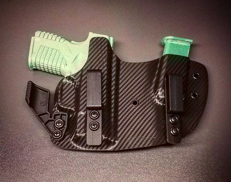 Springfield XDS 3 3 Kydex IWB Right Hand Appendix Concealed Carry Gun  Holster and Magazine Combo Carbon Fiber