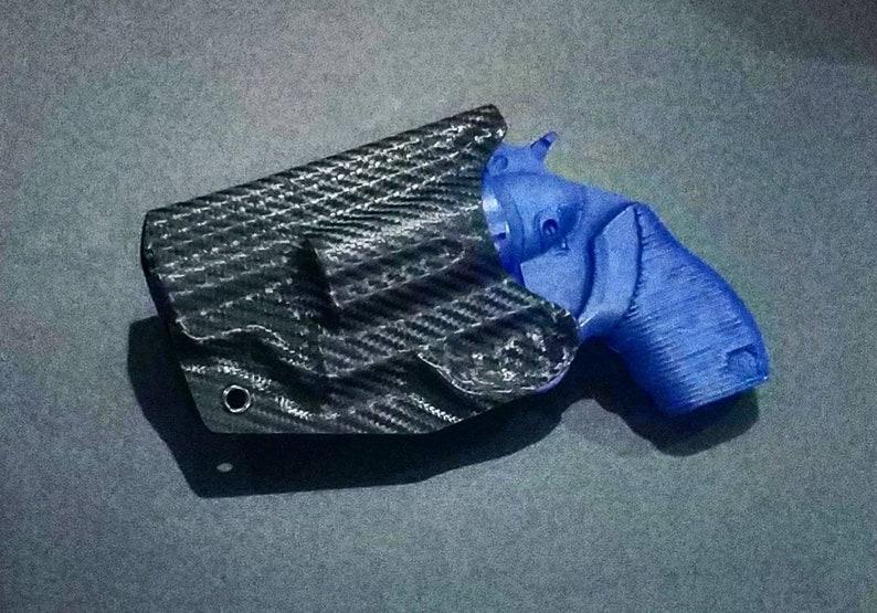 Taurus The Judge Public Defender Polymer Frame Holster - Right Hand IWB -  Carbon Fiber Kydex