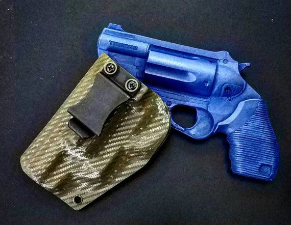 Taurus The Judge Public Defender Polymer Frame Holster - Left Hand IWB -  Carbon Fiber Kydex