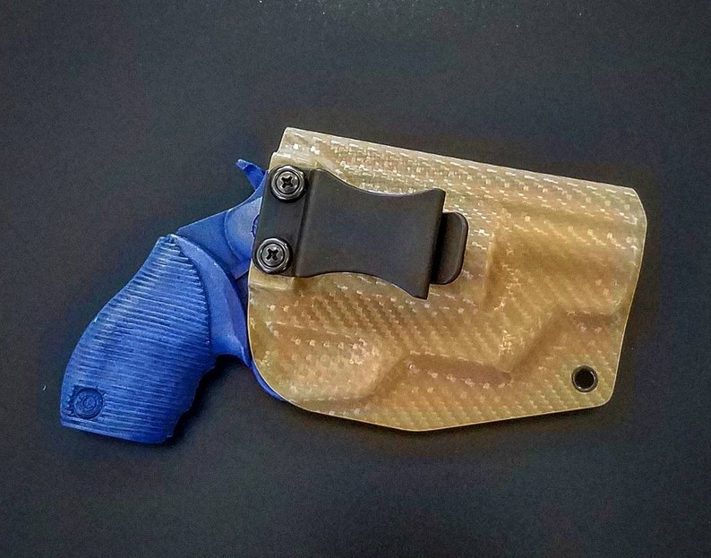 Taurus The Judge Public Defender Polymer Frame Holster - Right Hand IWB -  Killer Coyote Brown Carbon Fiber