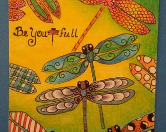 Be You t full 5x7 printed greeting card