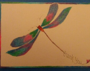 Thank you Dragonfly. 5x7 printed greeting card