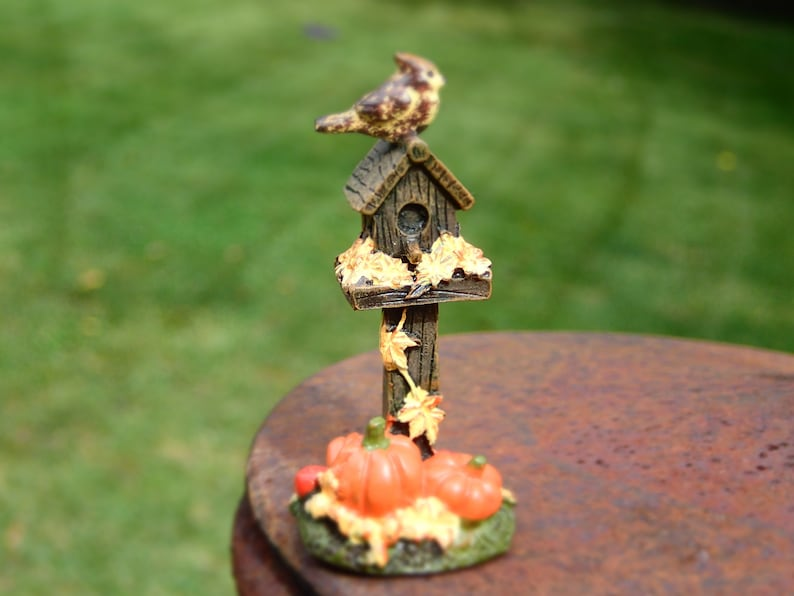 Fairy Garden Mini Scarecrow Pick MW Fall Decor