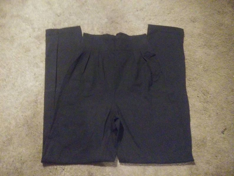 NOS Cherokee High Waisted Mom Pants Black Dress Pants New Old Stock with Tags.